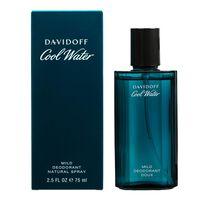 Davidoff mild deodorant natural spray Cool Water til mænd 75 ml