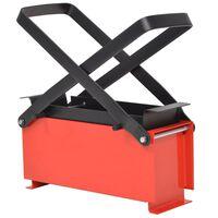 vidaXL papirkævle briketformer stål 34 x 14 x 14 cm sort og rød