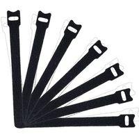 Bindebånd Med Velcro 100-pack Sort