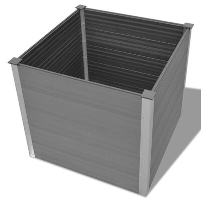 vidaXL forhøjet plantekasse 100x100x91 cm grå WPC