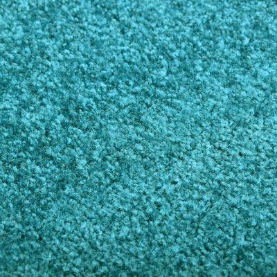 vidaXL vaskbar dørmåtte 120x180 cm cyanblå