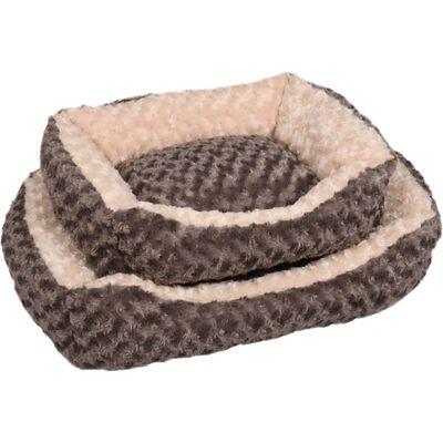 FLAMINGO hundekurv Cuddly 65x45x15 cm gråbrun