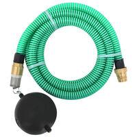 vidaXL sugeslange med messingstik 4 m 25 mm grøn