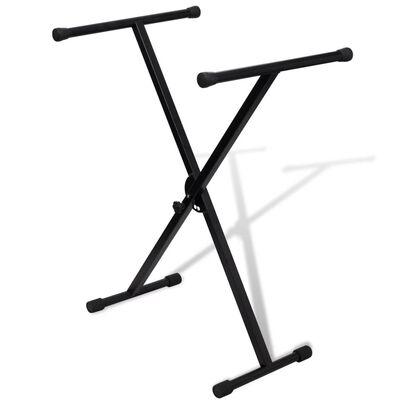 Justerbart, enkelt afstivet keyboardstativ med X-ramme