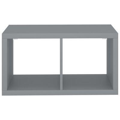 vidaXL væghylde 69,5x29,5x37 cm kubeformet MDF grå