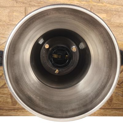 vidaXL industriel væglampe 70x23 cm E27 mangotræ sølvfarvet
