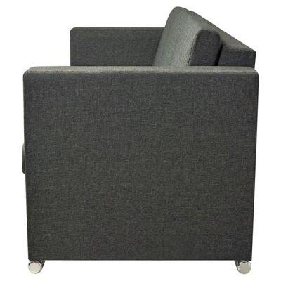 vidaXL 3 pers. sofa stof mørkegrå