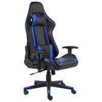 vidaXL drejelig gamingstol PVC blå
