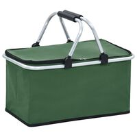 vidaXL foldbar køletaske 46 x 27 x 23 cm aluminium grøn