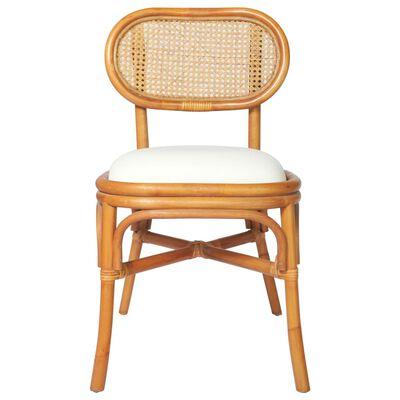 vidaXL spisebordsstole 6 stk. linned lysebrun