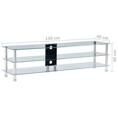 vidaXL tv-bord 150 x 40 x 40 cm hærdet glas transparent