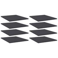 vidaXL boghylder 8 stk. 40x50x1,5 cm spånplade grå
