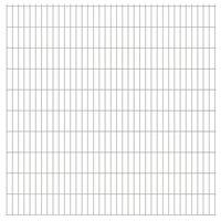 vidaXL havehegnspaneler 2D 2,008x2,03 m 14 m (total længde) sølvfarvet
