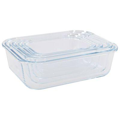 vidaXL opbevaringsbokse til mad glas 4 stk.