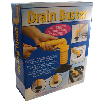 Drain Buster håndholdt afløbssvupper orange og sort