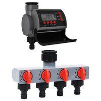 vidaXL vandingstimer med enkelt udløb og vandfordeler
