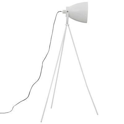 vidaXL gulvlampe med trefod E27 metal hvid