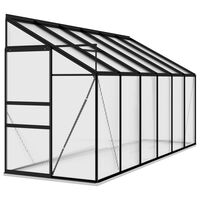 vidaXL drivhus 7,77 m² aluminium antracitgrå