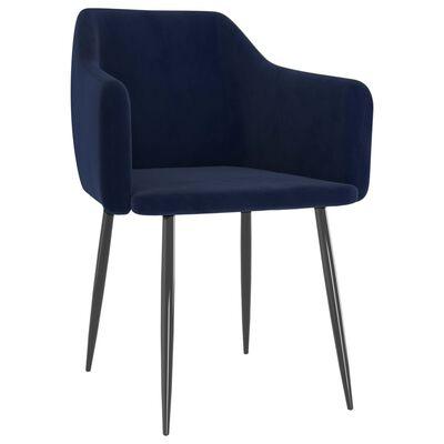 vidaXL spisebordsstole 6 stk. fløjl blå