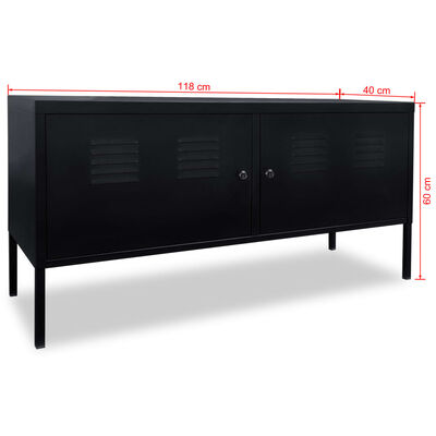 vidaXL TV-skab 118 x 40 x 60 cm sort