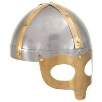 vidaXL vikingehjelm til rollespil antik stål sølvfarvet