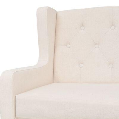 vidaXL 2-personers sofa stof cremehvid