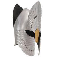 vidaXL middelalderlig ridderhjelm til rollespil stål sølvfarvet