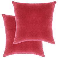 vidaXL puder 2 stk. bomuldsfløjl 45 x 45 cm pink