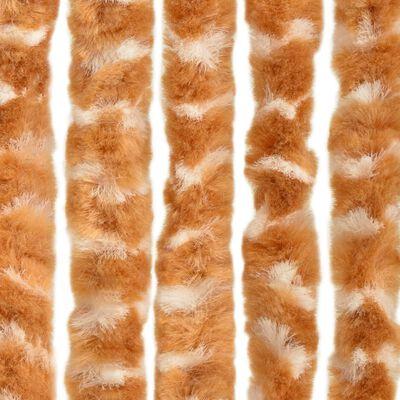 vidaXL insektgardin 90x220 cm chenille okker og hvid
