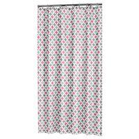 Sealskin badeforhæng Diamonds 180 x 200 cm polyester pink