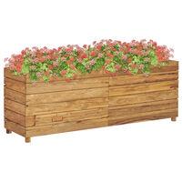 vidaXL hævet plantekasse 150x40x55 cm genanvendt teaktræ og stål