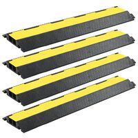vidaXL kabelbeskytterramper 4 stk. 2 kanaler gummi 101,5 cm