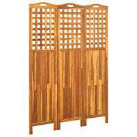vidaXL 3-panels rumdeler 121x2x170 cm massivt akacietræ