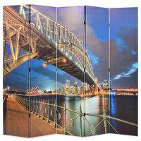 vidaXL foldbar rumdeler 200 x 170 cm Sydney Harbour Bridge
