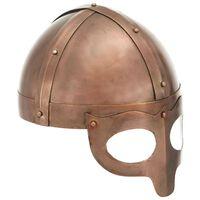 vidaXL vikingehjelm til rollespil antik stål kobberfarvet