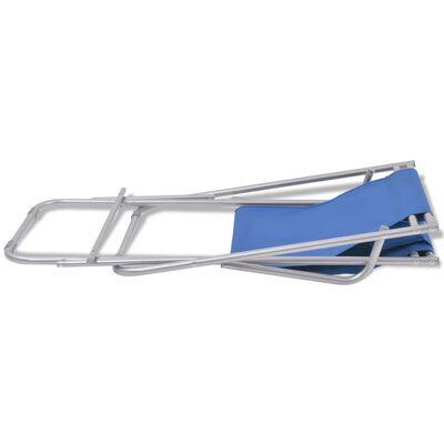 vidaXL dækstole 2 stk. stål blå