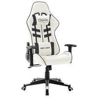 vidaXL gamingstol kunstlæder hvid og sort