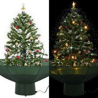 vidaXL juletræ med snefald paraplyfod 75 cm grøn