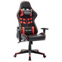 vidaXL gamingstol kunstlæder sort og rød