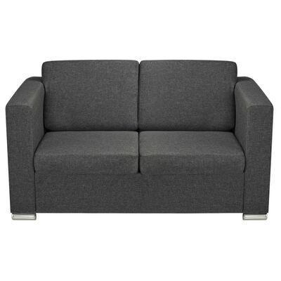 vidaXL 2 pers. sofa stof mørkegrå