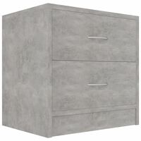 vidaXL sengeskab 40x30x40 cm spånplade betongrå