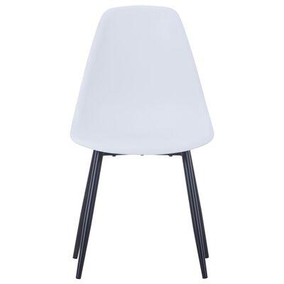 vidaXL spisebordsstole 6 stk. hvid PP