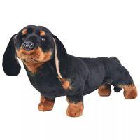 vidaXL stående plyslegetøjsgravhund sort XXL