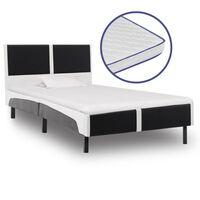vidaXL seng med madras i memoryskum kunstlæder 90 x 200 cm