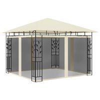 vidaXL pavillon med myggenet 3x3x2,73 m 180 g/m² cremefarvet