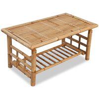 vidaXL sofabord bambus 90x50x45 cm