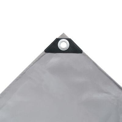 vidaXL presenning 650 g/m² 1,5 x 6 m grå