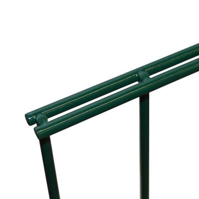 vidaXL havehegnspaneler 2D 2,008x2,23 m 20 m (total længde) grøn