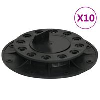 vidaXL justerbare terrassefødder 10 stk. 20-30 mm