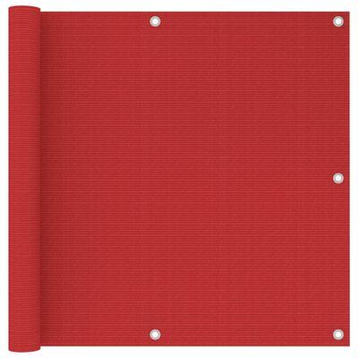 vidaXL altanafskærmning 90x500 cm HDPE rød